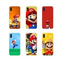 Accessories Phone Cases Covers For Apple iPhone X XR XS 11Pro MAX 4S 5S 5C SE 6S 7 8 Plus ipod touch 5 6 Funny Super Marios Bros