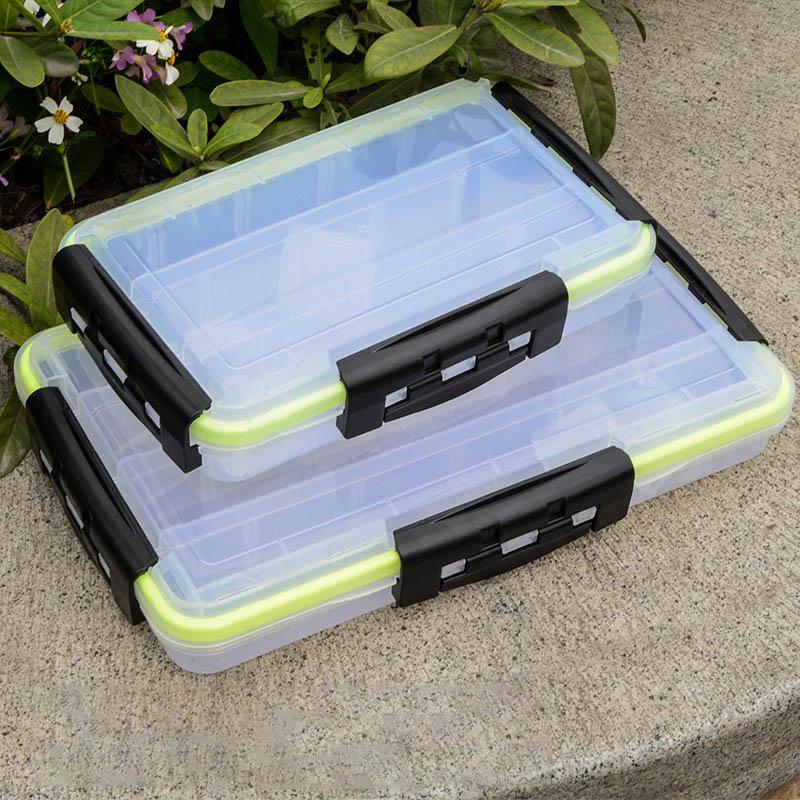 Fishing Tackle Box Waterproof Plastic Bait Box High Strength Fishing Tackle Accessories Storage Box Hook Box