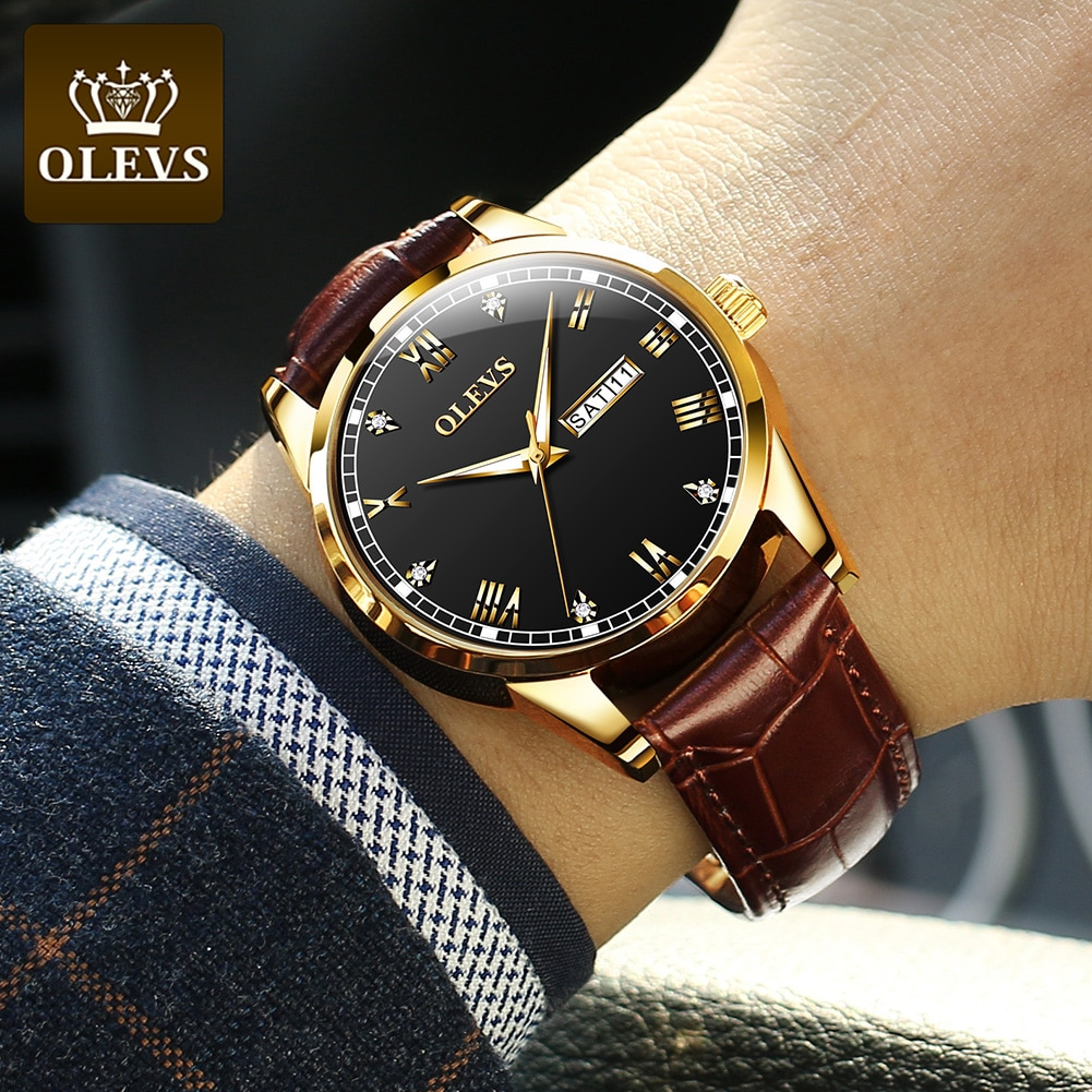 Мужские наручные часы 2021 роскошный бренд OLEVS Мужские кварцевые часы мужские деловые мужские часы мужские повседневные модные наручные часы...