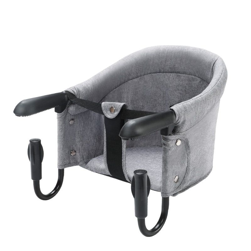 Portable Baby Highchair Foldable Feeding Chair Seat Booster Safety Belt Dinning Hook-on Chair Harness Safety Seat Kids Eating