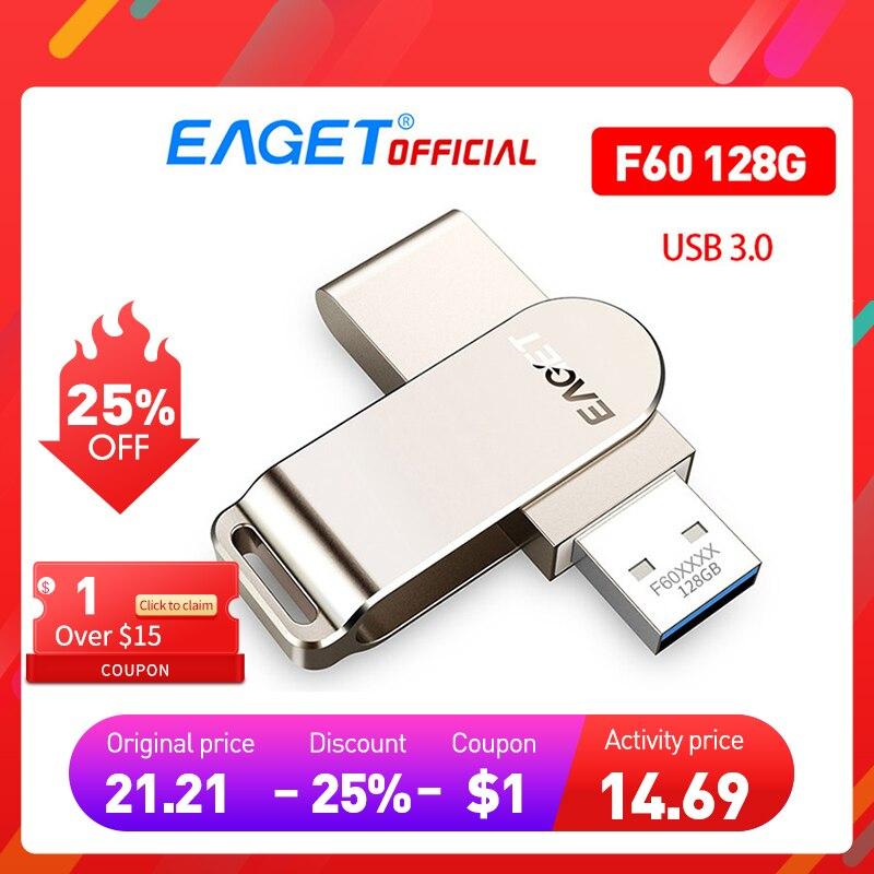 Фото - EAGET F60 128G USB Flash Drive USB 3.0 USB Flash Drive High Speed Pen Drive Mini Flash Drive Memory Stick usb flash drive