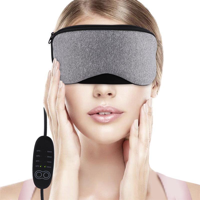 1Pc USB Electric Steam Warm Eye Mask Heat Sleeping Eye Mask Sleeping Protective Eye Mask For Man Woman