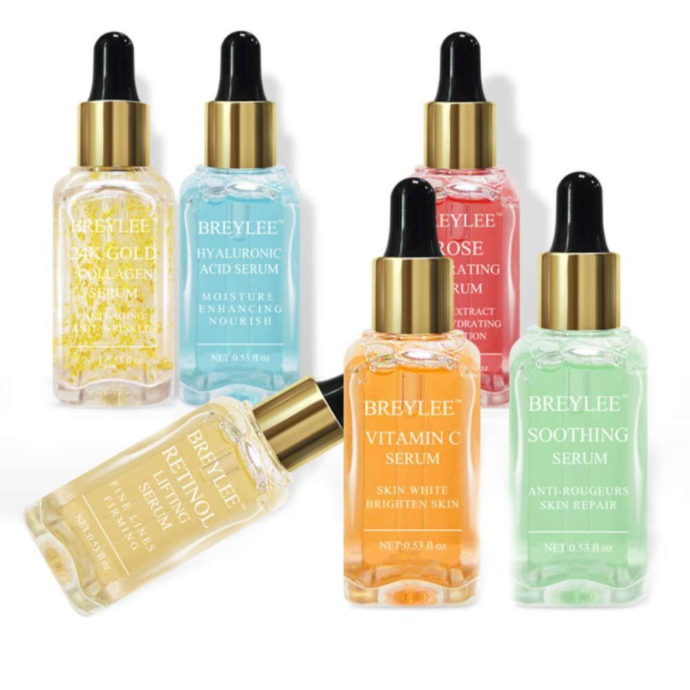 15ml Serum Series Hyaluronic Acid Vitamin C Whitening Face Skin Care Rose Nourish 24k Gold Firm Soothing Repair