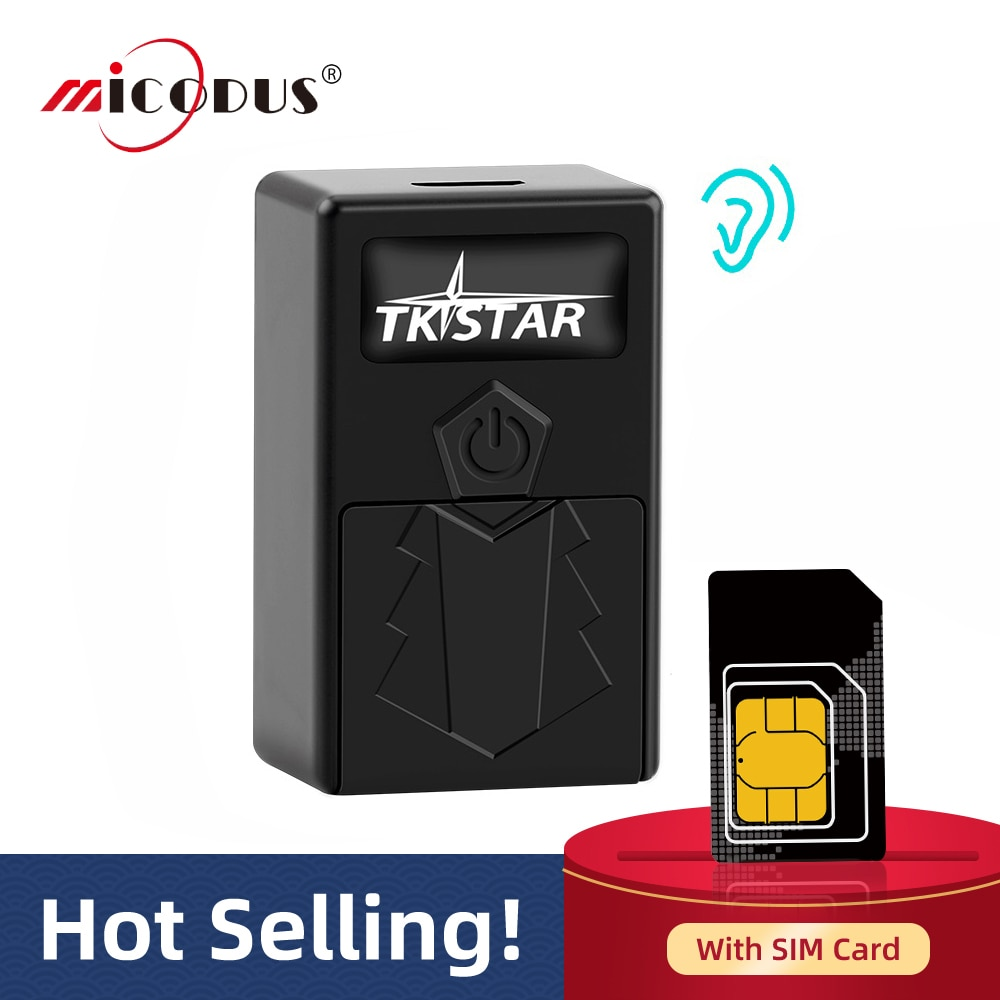 Localizador GPS para coche Mini con tarjeta SIM TKSTAR TK921, rastreador GPS para niños, localizador GPS para seguimiento en tiempo real, alarma SOS, aplicación Web gratuita