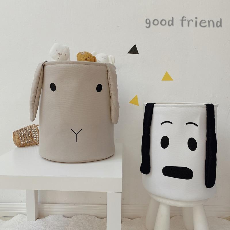 الكرتون للأطفال لعبة تخزين برميل القماش الطفل صندوق تخزين ملابس صندوق قابل للغسل طوي حقيبة التخزين منتجات التخزين المنزلية