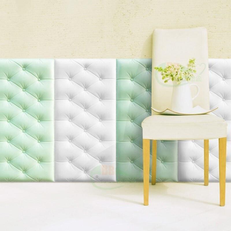 Papel pintado autoadhesivo 3D pegatinas de pared tridimensional Thicken Tatami Anti-colisión estera de dormitorio de los niños cojín suave