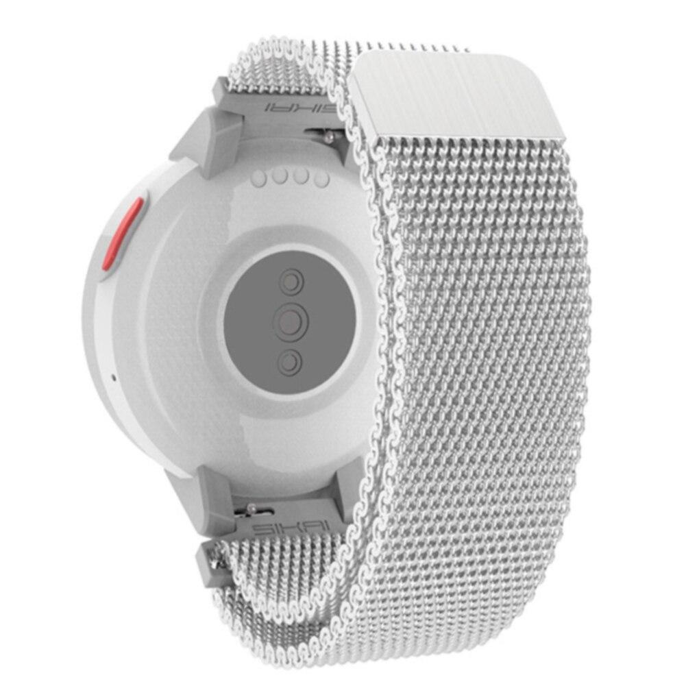 Resistente al desgaste correa de repuesto para reloj ergonómico ligero de moda de Metal ajustable tejido magnético suave para Huami Amazfti punto