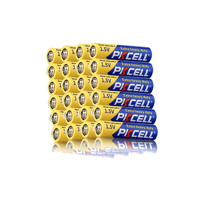 Baterias resistentes super do único uso das baterias 3a da bateria 3a do aaa de 20 x pkcell r03p 1.5v para o termômetro