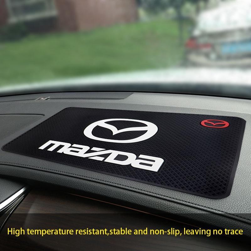 Автомобильный Противоскользящий коврик с логотипом Mazda, автомобильный коврик для духов, автомобильный Противоскользящий коврик для хранен...