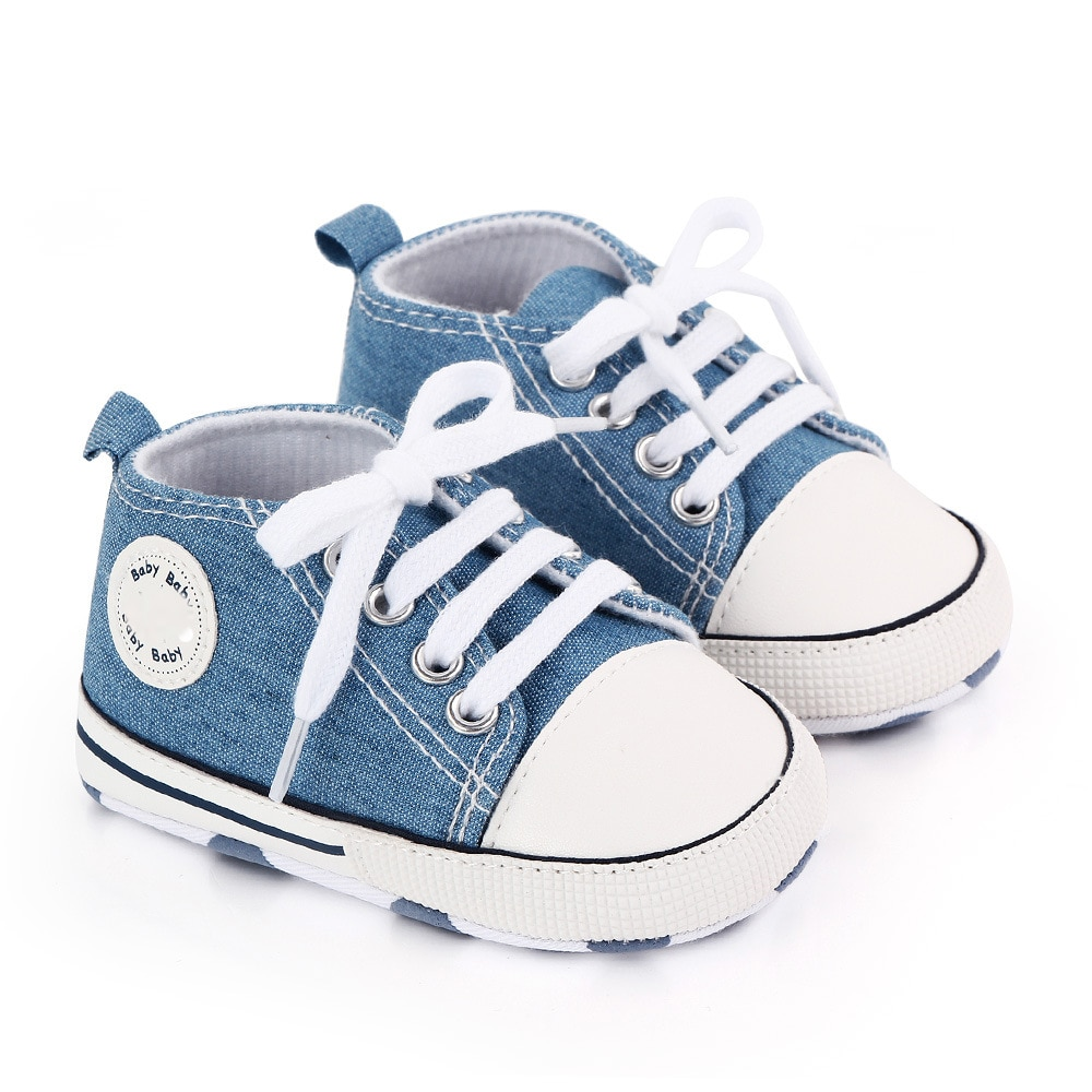 Baby Canvas Classic Sneakers Newborn Print Star Sports Baby Boys Girls First Walkers Shoes Infant Toddler Anti-slip Baby Shoes