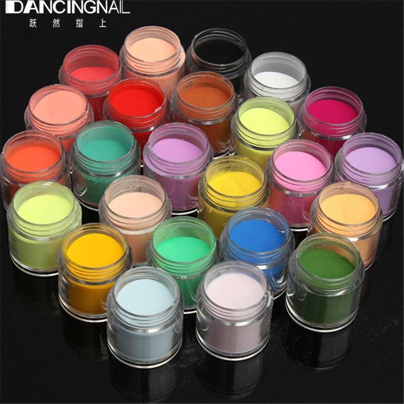 24pcs Colorful DIY Nail Glitte Dust Powder Shiny Glitter Nail Art Powder Kit Shining Sugar Tip 3D Decorations Acrylic UV Powders