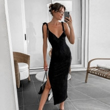 2021 Women Elegant Tight Party Dress Strap Sleeveless Bodycon Long Dress Camis Spaghetti Strap Femal