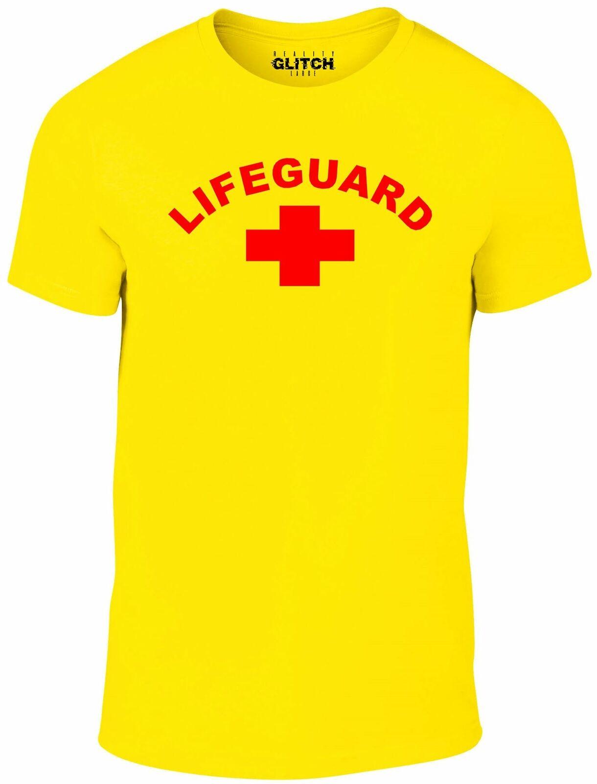Homme sauveteur t-shirt Baywatch plage soleil surf Mitch piscine natation déguisement
