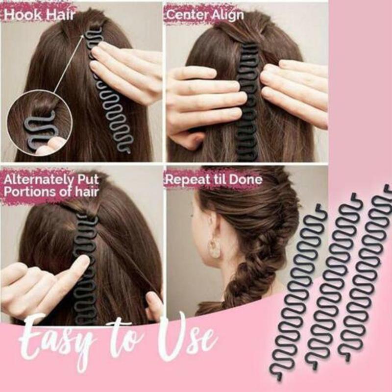 Nuevo estilo de onda tipo trenzas para el cabello herramienta de fabricación de accesorios para el cabello Clip profesional trenza ondulada rizos trenza accesorios trenzados