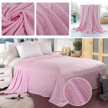 Bamboo Fiber Travel Quilt Car Seat Throws Bedspread Summer Blanket Sleeping Supplies Bed Sheet Large Towel Bedding Hot
