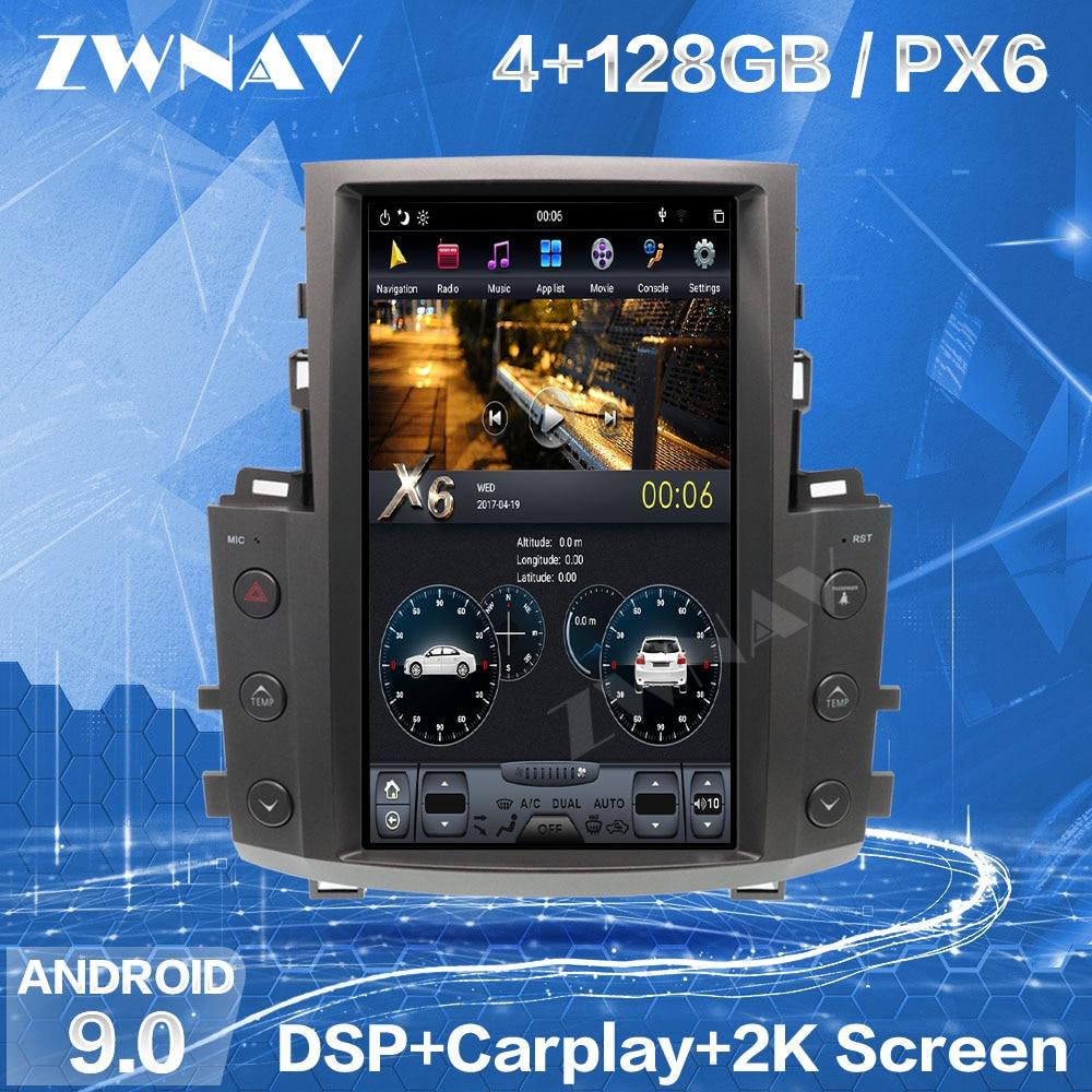 128G Tesla Screen Carplay For 2007-2012 2013 2014 2015 Lexus LX570 Android Player GPS Head Unit Auto Audio Stereo Radio Recorder