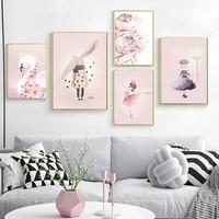 Delada     toile de peinture nordique  decor de maison  mignon  Miss lapin  affiche dart mural  salon  chambre denfant