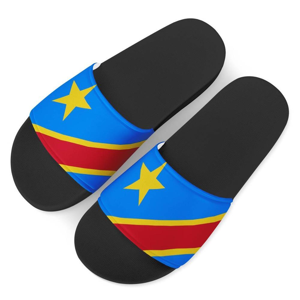 جمهورية الكونغو-صنادل صيفية نسائية مطبوعة بعلم ، نعال مطاطية عصرية جديدة ، أحذية داخلية مريحة غير رسمية ، 2021