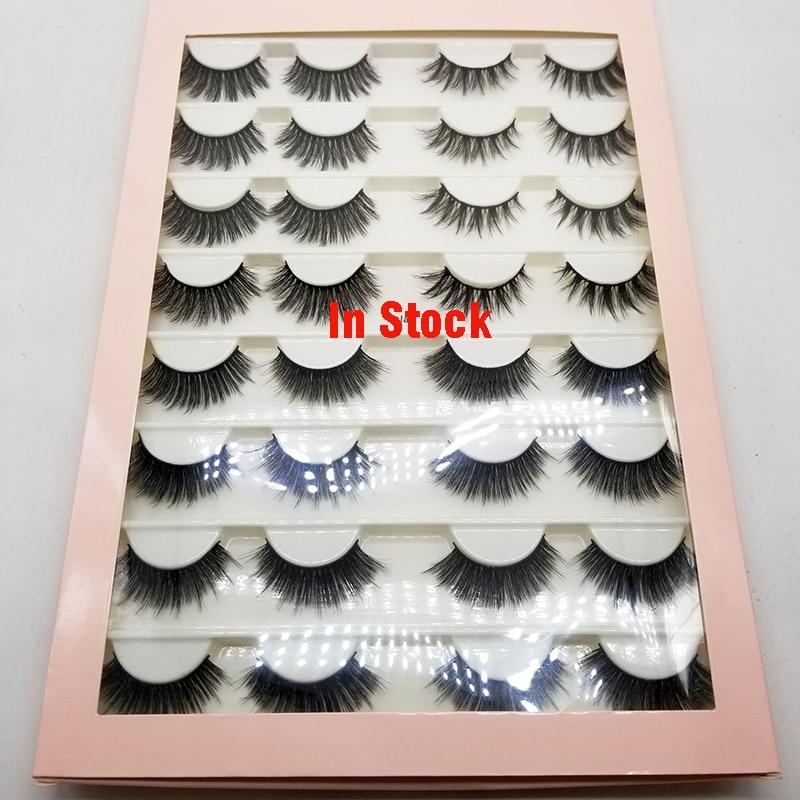 16 Pairs Multipack 3D Mink Hair False Eyelashes Natural Wispy Fluffy Long Lashes Natural Eye Makeup Tools Faux Eye Lashes