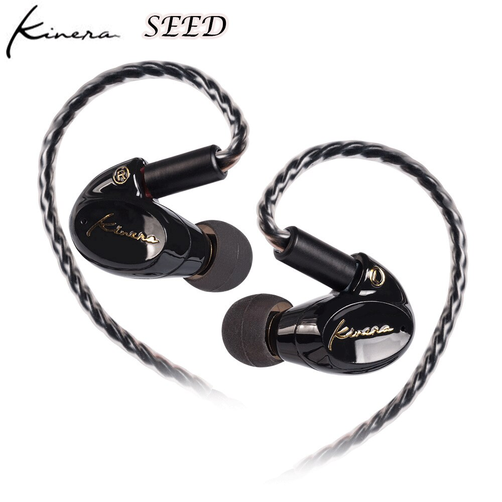 Fone de Ouvido 1dd + 1ba Kinera Semente Unidade Híbrida no Ouvido Alta Fidelidade Esporte Monitor Fone Destacável 3.5mm