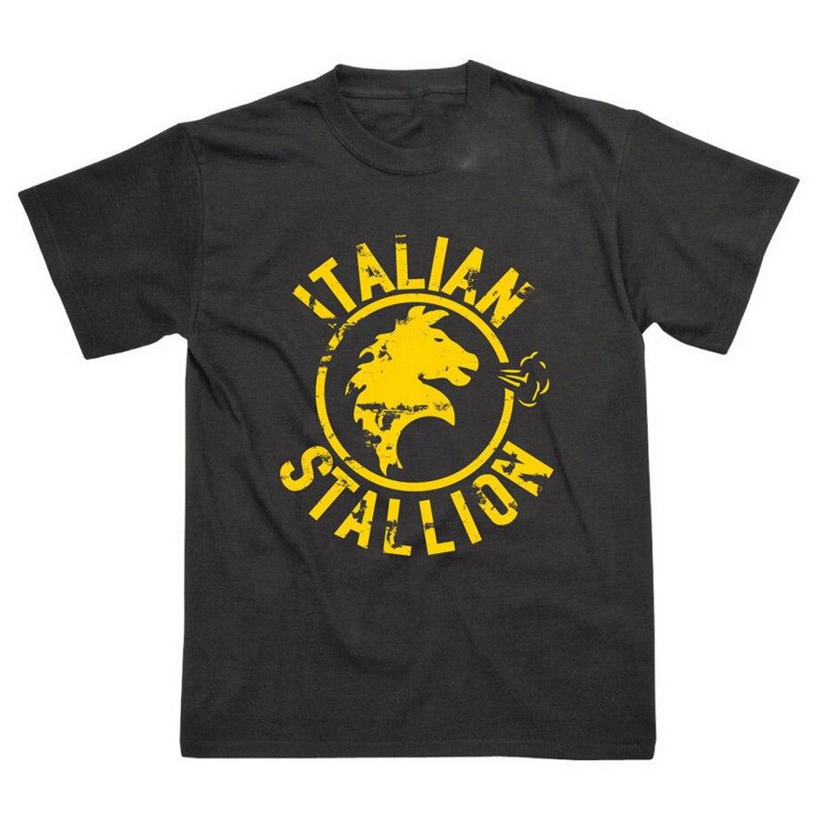 Stallion italiano inspirado por Rocky Balboa transpirable Camiseta 2 colores Cool Casual Pride camiseta hombres Unisex nueva camiseta de moda