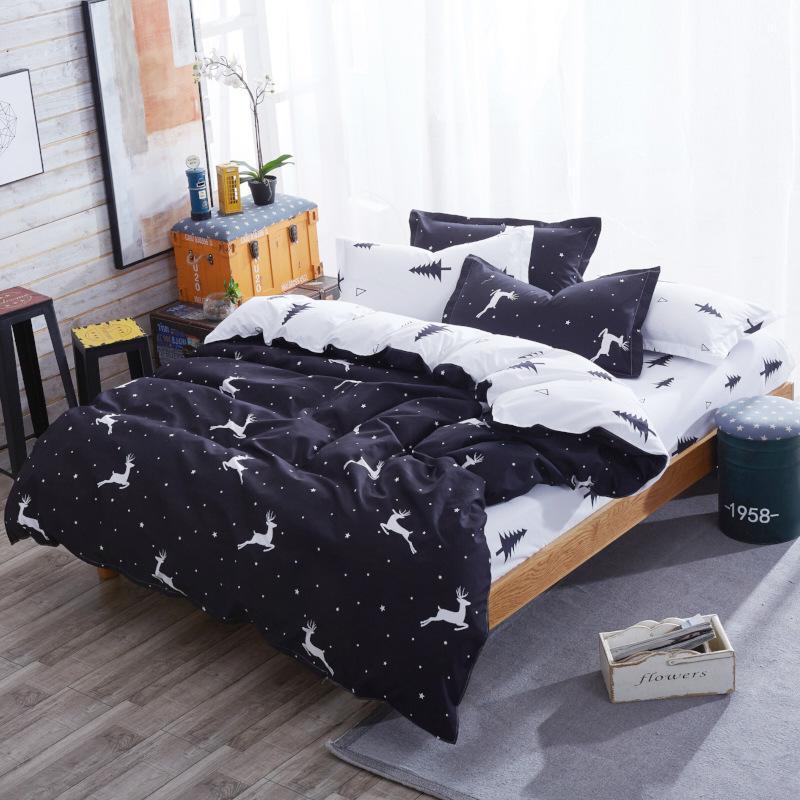 الحيوان نمط لحاف حالة المجهزة ورقة 4 قطعة طقم سرير القطن طفل سرير مفرد الكتان 1.2 متر 1.5 متر حاف الغطاء كامل التوأم الحجم