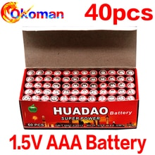 Pilas secas de carbono AAA de 1,5 V, batería aaa de 1,5 V, R03 R3C para cámara, calculadora, despertador, mando a distancia, UM4 40 Uds.