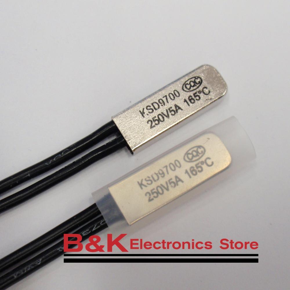 Alta Temperatura 160c KSD9700 170c 190c 180c 200c 220c 210c 240c Disco Bimetal Interruptor da Temperatura do Termostato Protetor Térmico