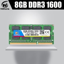 VEINEDA Memoria ram DDR3 8gb ram memoria ddr3 1333Mhz For all Intel AMD Sodimm compatible 1066,1600MHZ ddr3 8gb pc3-12800 204pin