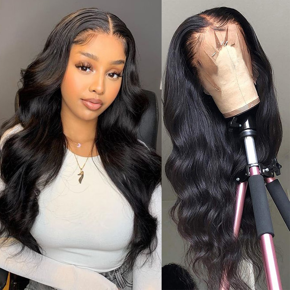 Lace Front Wigs Human Hair Pre Plucked Body Wave 13x4 Lace Frontal Wig 100% Human Hair Wigs for Women 180% Brazilian Real Hair