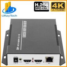 MPEG4 H.264 4K HDMI IP encodeur de diffusion vidéo encodeur IPTV H264 RTMP encodeur de flux en direct HDMI vers RTSP UDP multidiffusion HLS ONVIF