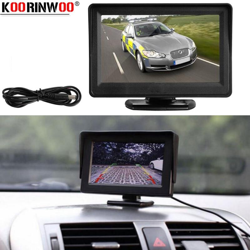 Koorinwoo Fahrzeug Intelligente 800P Auto Parkplatz Kit LCD Farbe Auto-Monitor Rearview Kamera Stamm CCD Metall Schwarz Rückfahr Kamera