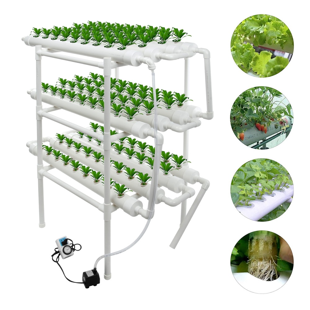 Hydroponic growth System Soilless culture equipment family balcony pipe type vegetable planter automatic hydroponic Flower stand