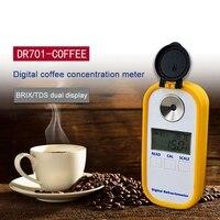 DR701 0-30% Brix Coffee Portable Sugar Meter TDS 0-25% Concentration Refractometer Digital Electronic Refractometer