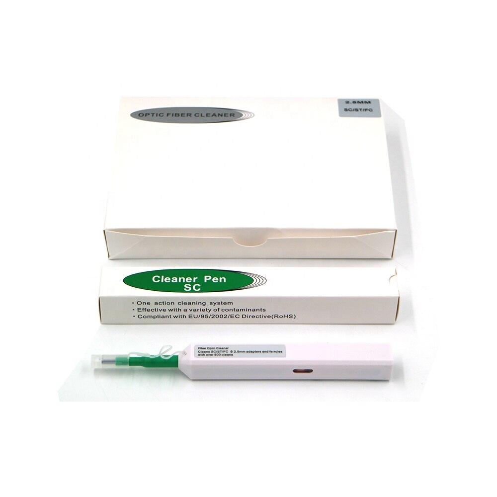 10 pçs por atacado ab11a caneta de limpeza para sc/fc/st um clique ferramenta de limpeza 2.5mm conector universal fibra óptica limpeza caneta