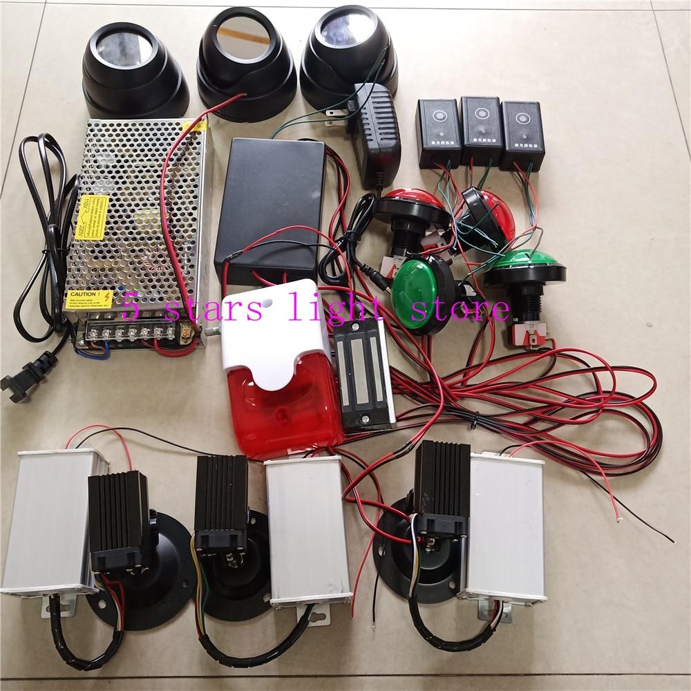 Accesorios de escape de penetralium mágico profesional cámara de diseño de matriz láser verde real juego de escape láser secreto juego de laberinto seguro