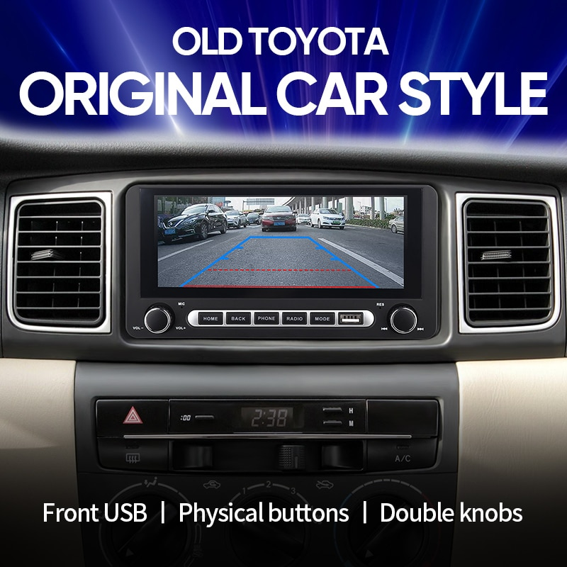 Android 8.1 Universal for Toyota Corolla Camry Vios Privia Car Radio Multimedia Player Stereo Naviga