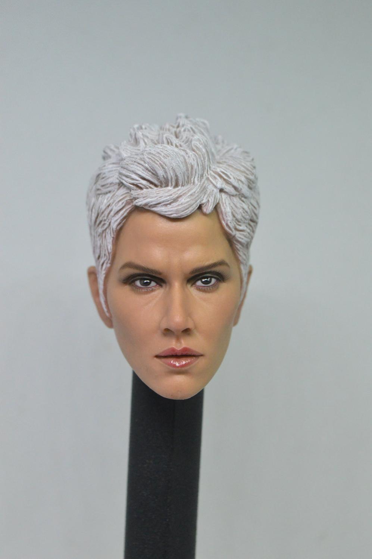 "Escala 1/6 Storm Ororo cabeza munhuevas esculpir para x-men 12 ""juguetes calientes figura femenina"