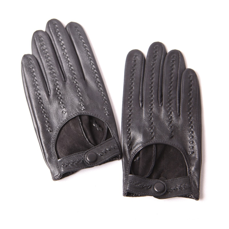 2020 Spring Autumn Sheepskin Gloves Male Locomotive Driving Genuine Leather Fashion Woven Men Gloves Thin Unlined M063N-2 man s real leather gloves thin spring autumn driving sheepskin gloves male unlined fashion simple free shipping te0625a