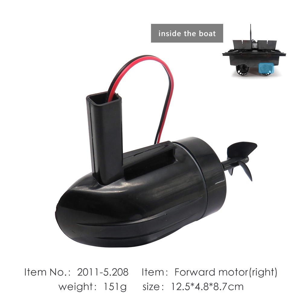 for Flytec 2011-5 Fishing RC Boat Left Side Reverse Motor Parts Accessories for Upgraded 2011-5 Bait