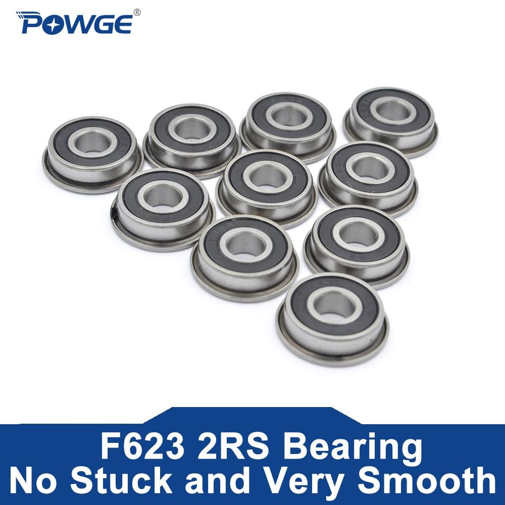 POWGE VORON F623-2RS Lager 3*10*4mm ABEC-7 Flansch Miniatur F623 RS Kugellager F623RS Für Voron 0 3D Drucker