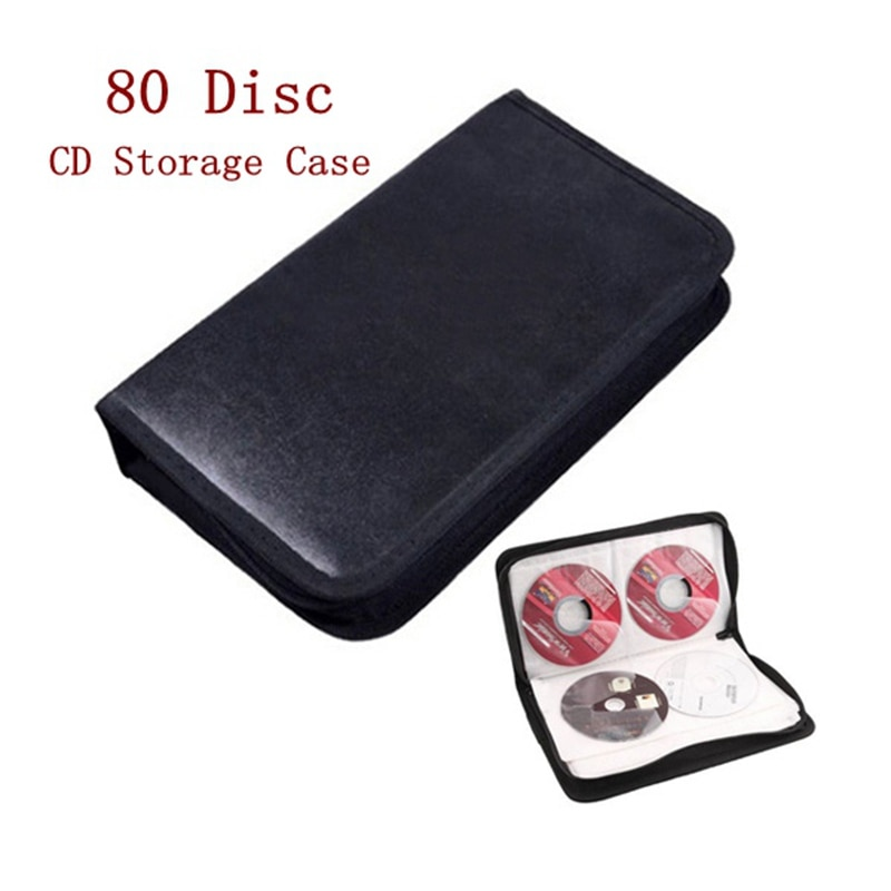 LEORY 80 диск PU DVD CD держатель для хранения CD сумка для переноски Чехол DJ искусственная кожа Чехол держатель для хранения Органайзер Кошелек коробка для VCD DVD CD