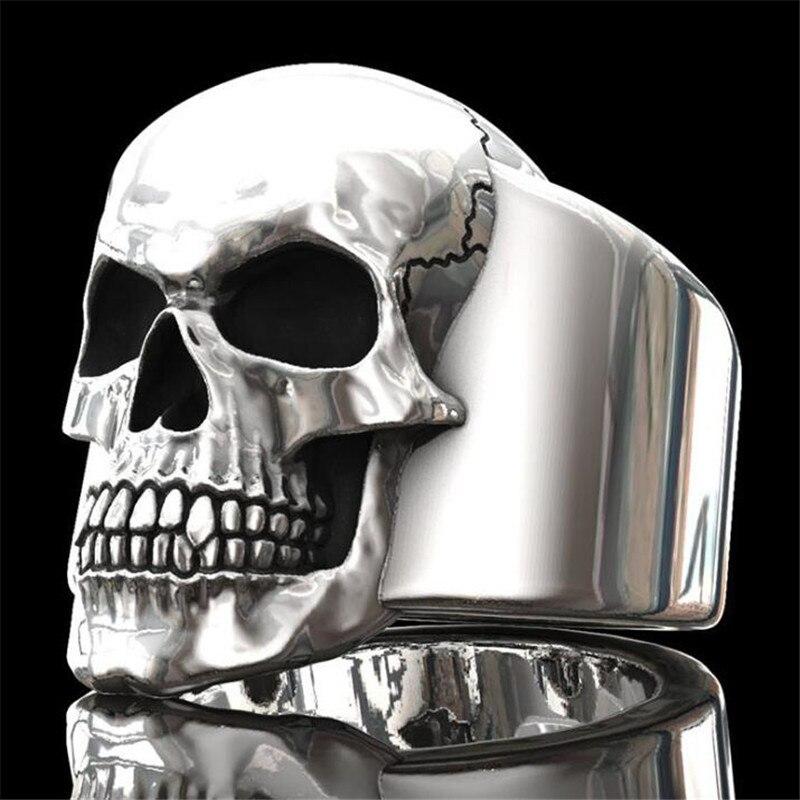 В европейском и американском стиле; Модные серебристые Цвет указательный палец кольцо в стиле «панк» в стиле «хип хоп» с изображением черепа для мужчин кольцо Ювелирное Украшение для ночного клуба