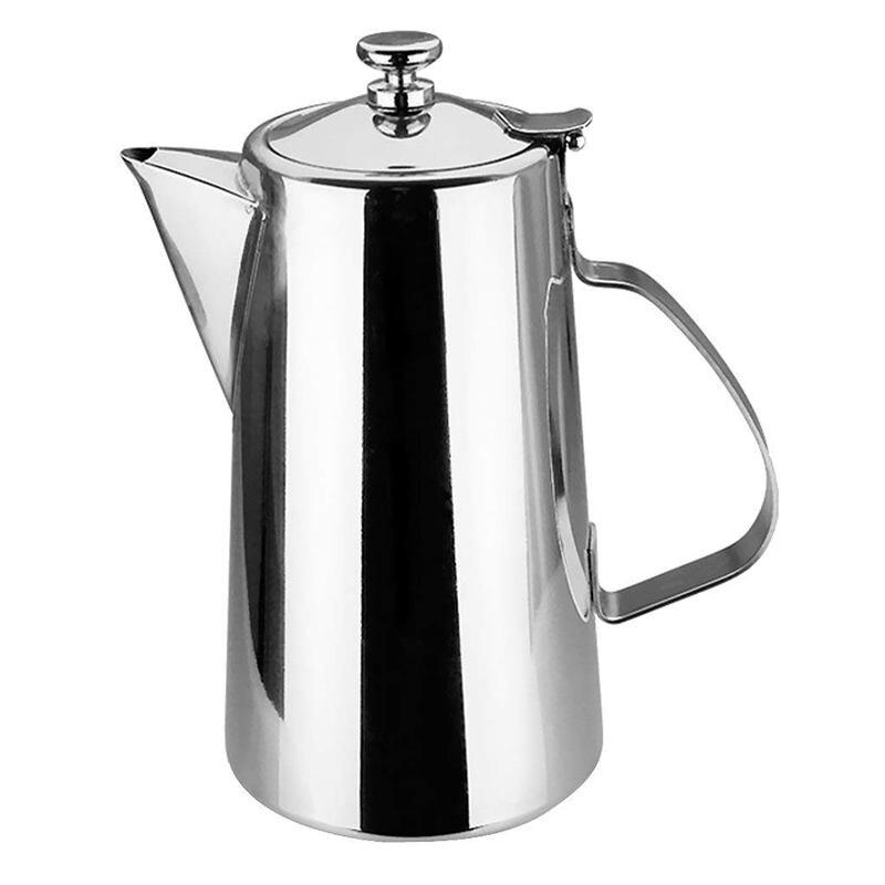 Jarra jarra de agua de acero inoxidable con tapa para café bebida de leche-pico corto, 1.5L