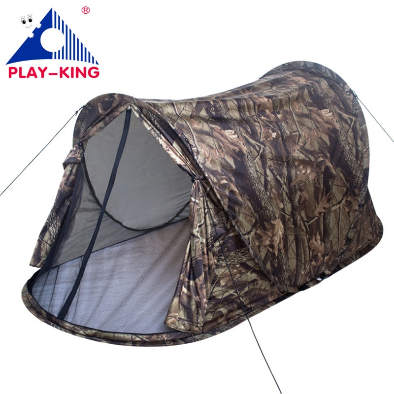 Tienda de campaña para acampar plegable con protección UV para una sola persona, tienda de campaña automática para exteriores Barraca Tenda