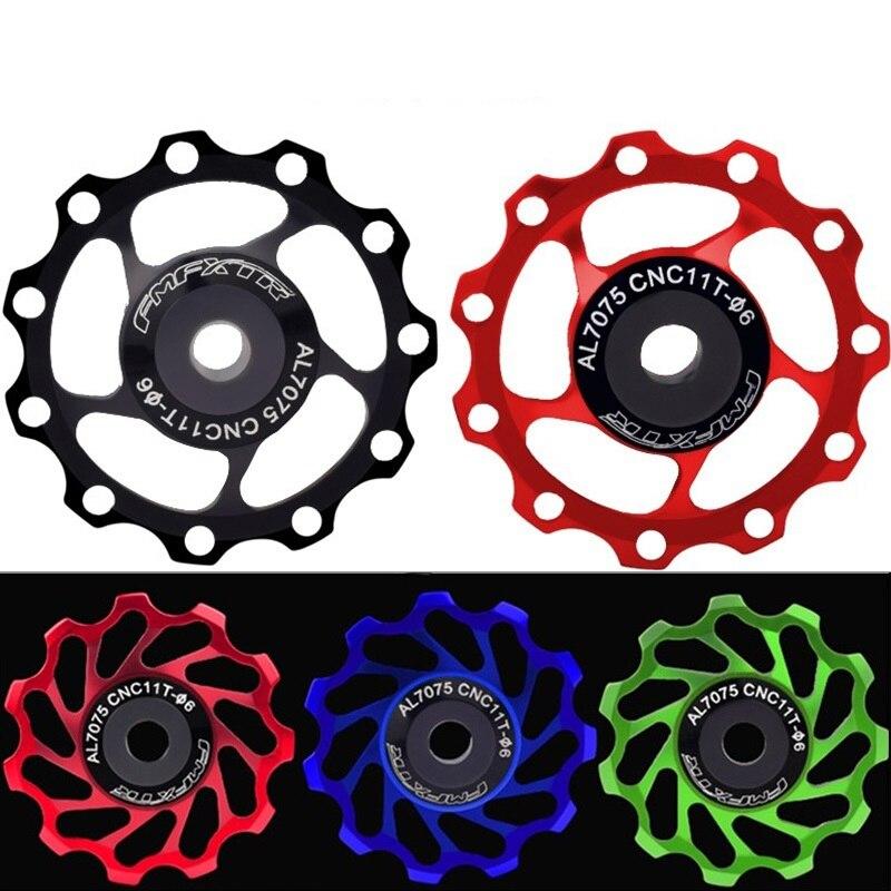 MTB Mountian Road Bike trasero Derailleur rodamiento de cerámica 11T 13T Polley Jockey rueda CNC guía rodillo bicicleta piezas