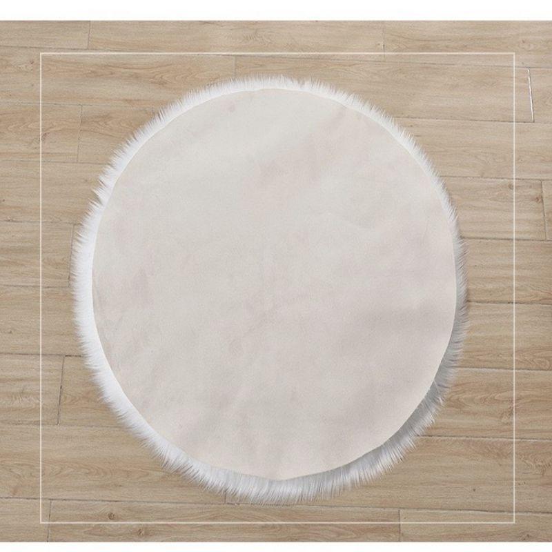 Velvet Faux Suede Lining Longer Nap Home Mat for Living Room