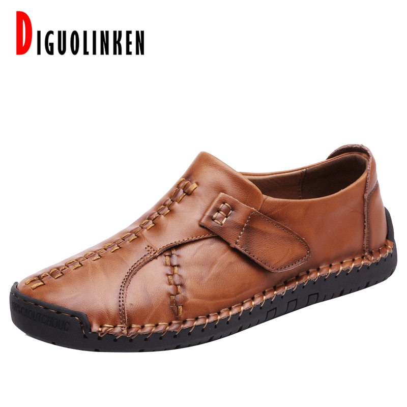 2020 Genuine Leather Men Shoes Causal Loafers Men Moccasin Slip on Men's Winter Shoes Flat with Warm Fur Zapatos De Hombre 46