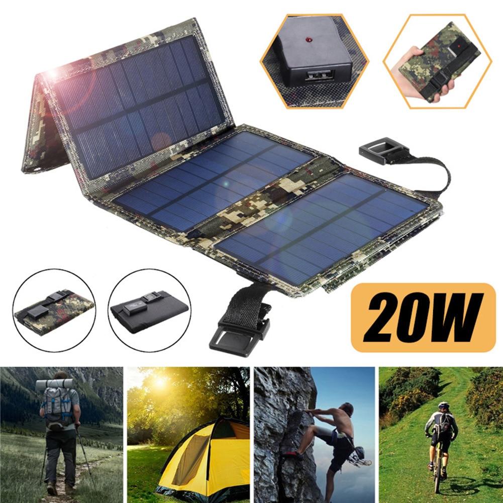 Solar 20W 30W 5V outdoor solar panel charging bag small size portable solar panel folding bag