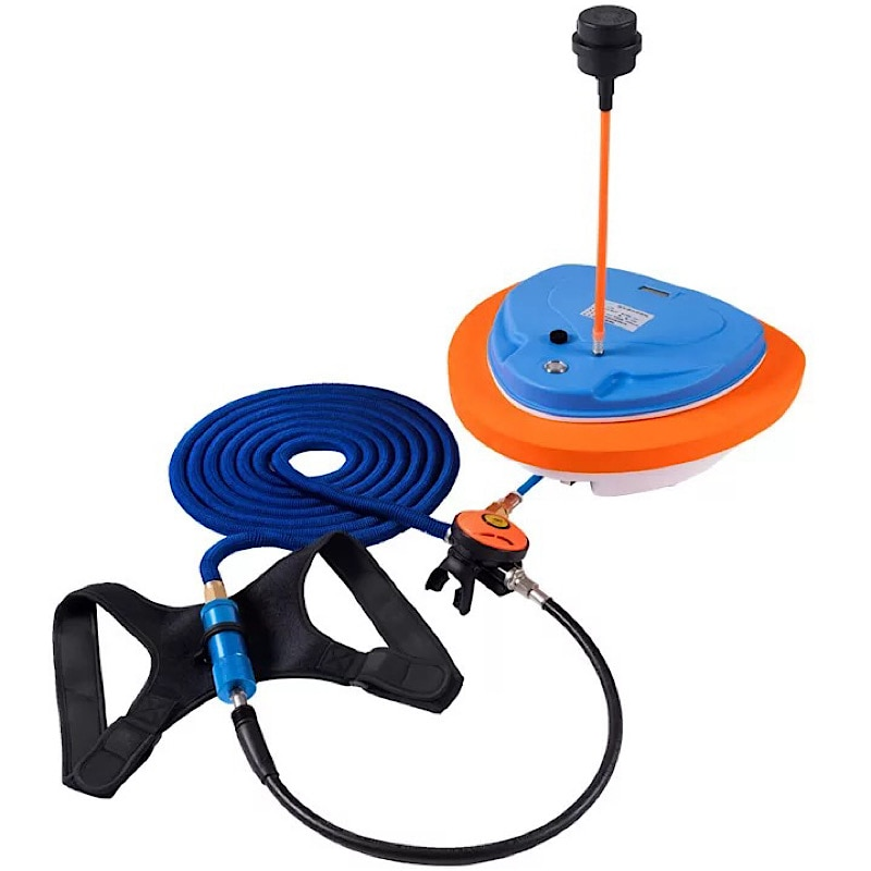 New Scuba Diving Snorkel Equipment Trap Mobile Ventilator Support  Deepest Time To 12 Meters Is 2.7-5 Hours Underwater Snorkel